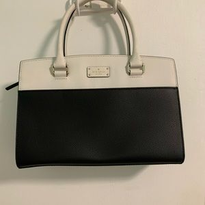Kate spade black and white bag